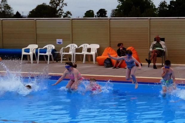 Shap swimming pool re-opens after extensive refurbishment project. ..Submitted pic.