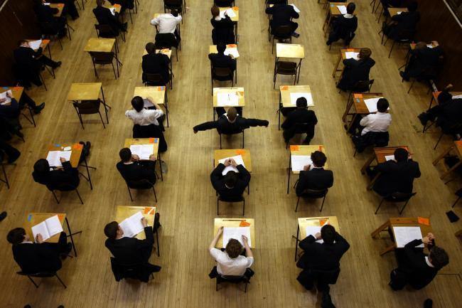 EXAMS: Stock image of school pupils taking an exam