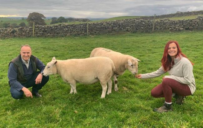 Down on the farm: Dr Neil Hudson and Hannah Jackson, the Red Shepherdess