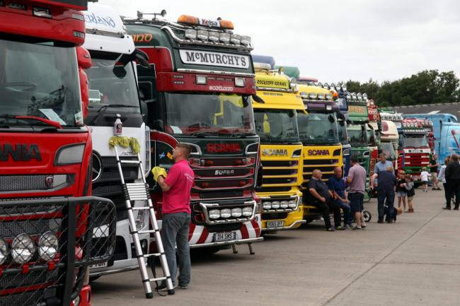 Some of the trucks lined up at the charity truck show at Boderway Mart, Carlisle at the weekend July 21. 2018 Picture: Loftus Brown