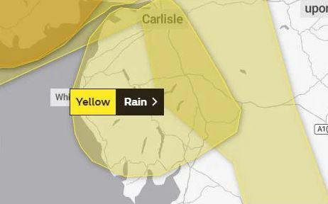 Flood warnings as heavy rain and high winds hit Cumbria