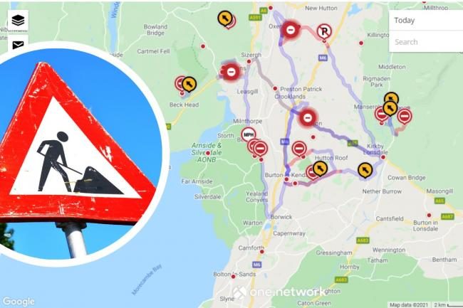 The four big roadworks in Cumbria that could see you divert more than 30 miles. Picture: Cumbria County Council